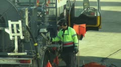 Airliner refuelling - stock footage