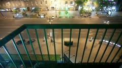 View from a balcony time lapse Stock Footage
