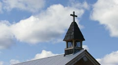 108 Mile Roadhouse Church Steeple Cross timelapse Stock Footage
