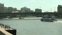Moscow the river Stock Footage