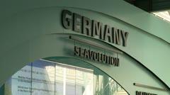 Deutschland Germany pavillon Yeosu Expo 2012 Stock Footage