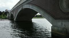 Weeks bridge cambridge massachusetts Stock Footage