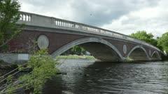 Weeks bridge boston side Stock Footage