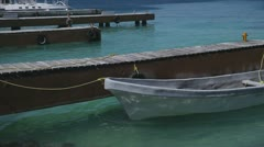 Boat caribbean mexico Stock Footage