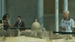 St Peters model at the Vatican (one) Stock Footage