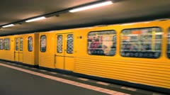 Stock Video Footage of  Modern subway station, Berlin, Germany, Europe