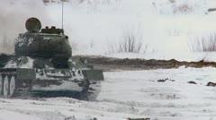 Russian Tanks T34 Stock Footage