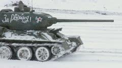 Legendary Russian Tanks T34 Stock Footage