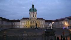 Christmas market at Schloss Charlottenburg, Berlin, Germany Stock Footage