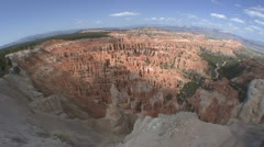 P01971 Bryce Canyon National Park with Fisheye Lens Stock Footage