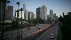 110 Harbour Freeway, Los Angeles, USA Stock Footage