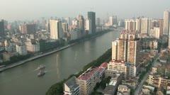Skyline of Guangzhou city - stock footage