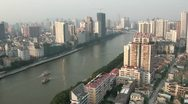 Stock Video Footage of Skyline of Guangzhou city