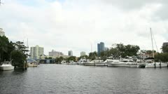 Fort Lauderdale intercostal - stock footage