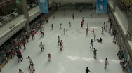 Stock Video Footage of Overview of an indoor ice rink in China