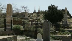 Graveyard in high desert mountain, old west town, 903  Stock Footage