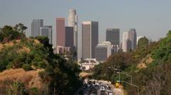 Pasadena Freeway, Los Angeles, USA Stock Footage
