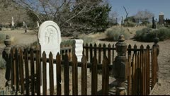 906 generic old west mountain graveyard Stock Footage