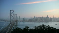 Bay Bridge, San Francisco, California, USA Stock Footage