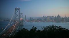 Bay Bridge, San Francisco, California, USA - stock footage