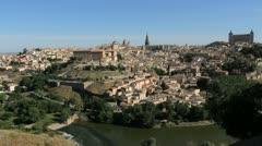 Toledo and Rio Tajo vista Stock Footage