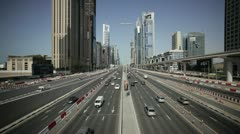 Sheikh Zayed Rd, Dubai, UAE Stock Footage