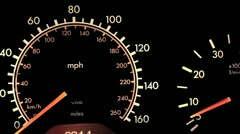 Automobile Dashboard With Engine Revving Stock Video Stock Footage