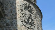 Toledo crest on walls 3. Stock Footage