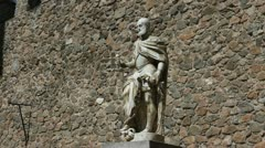 Toledo Carlos 1 closer statue - stock footage