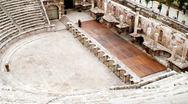 Amphitheater Amman Stock Footage