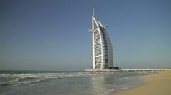 Burj Al Arab Hotel, Dubai, UAE Stock Footage