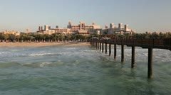 Jumeirah Beach resort, Dubai, UAE Stock Footage