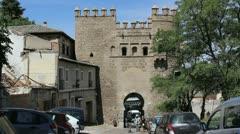 Toledo Puerto de Sol gate Stock Footage