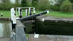 Canal Lock Gates Stock Footage