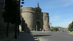 Toledo Puerto Nueva de Bisagra gate Stock Footage