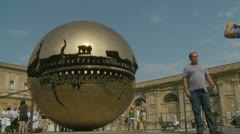 Globe at the Vatican museum timelapse Stock Footage