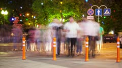 people walking urban street time lapse - stock footage