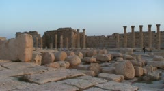 Palmyra sunset Stock Footage