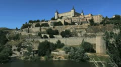 Toledo view of Alcazar 2 Stock Footage