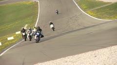 Motorcyccling Race Stock Footage