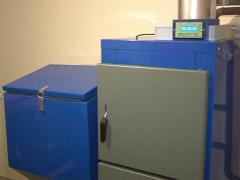 Boiler fired straw pellet Stock Footage
