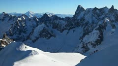 Chamonix Mont-Blanc, France Stock Footage