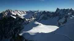 Chamonix Mont-Blanc, France - stock footage