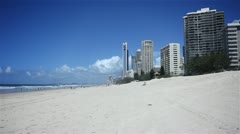 Gold Coast Beach. Surfers Paradise. Stock Footage