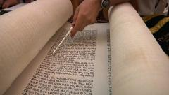 Torah reading Stock Footage