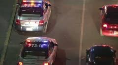 Mexico policecar city night traffic Stock Footage