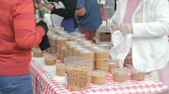 Stock Footage - Farm Grown Peanuts - Home made peanut Butter Sale\Transaction Stock Footage