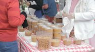 Stock Video Footage of Stock Footage - Farm Grown Peanuts - Home made peanut Butter Sale\Transaction