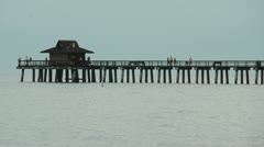 Fishing pier on the West coast of Florida Stock Footage