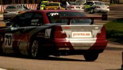 Stock Video Footage of autosport crash